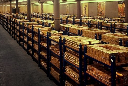 gold_treasury Kazna bullions of precious metals Currently Bank of England vault