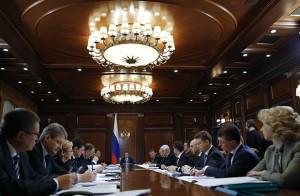 Премьер-министр РФ Д. Медведев провел совещание по социально-экономическим вопросам