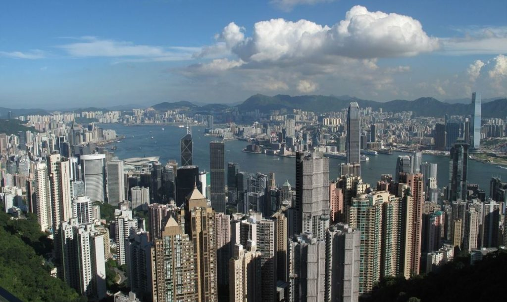 Hong Kong City Skyscrapers Building Booked