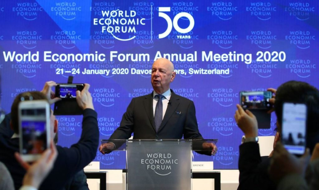 Klaus Schwab, founder and Executive Chairman of the World Economic Forum (WEF), addresses a news conference ahead of the Davos annual meeting in Cologny near Geneva, Switzerland, January 14, 2020. REUTERS/Denis Balibouse - RC2PFE9AI1JD