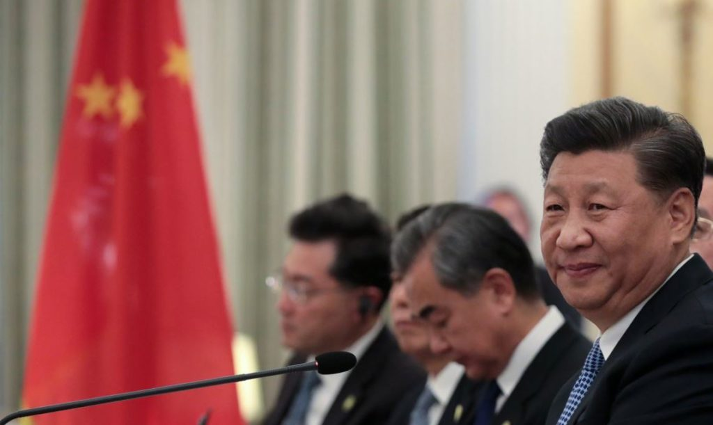 Chinese President Xi Jinping attends a meeting with Greek President Prokopis Pavlopoulos (not pictured) at the Presidential Palace in Athens, Greece, November 11, 2019. REUTERS/Costas Baltas - RC2W8D97ASTB